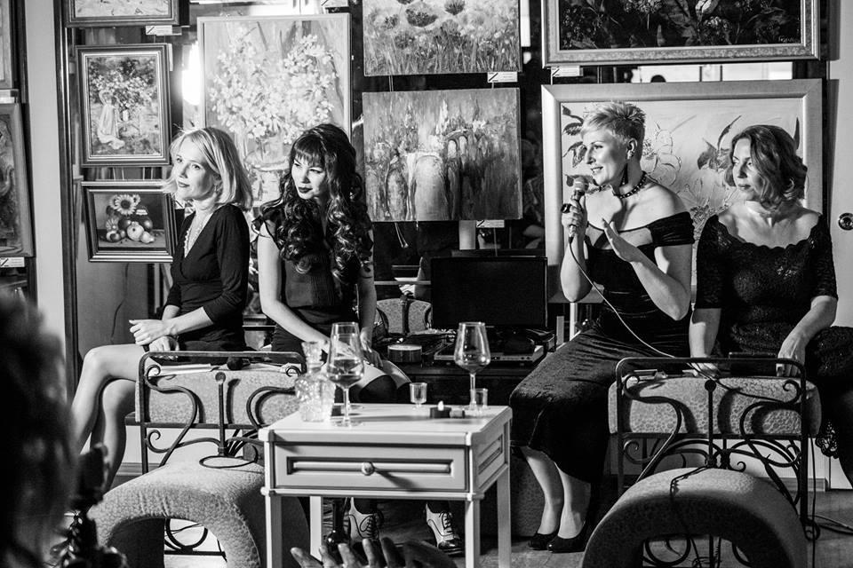 <big>слева направо: Елена Берсенёва, Татьяна Тюлькина, Ирина Куртмазова, Мария Дубиковская