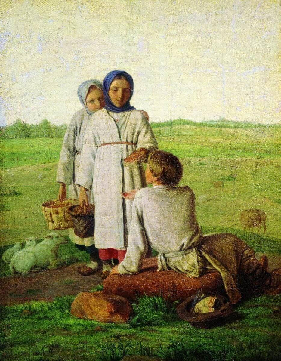 А. Венецианов. «Крестьянские дети»